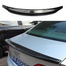 Para audi a4 carbono spoiler caractere estilo a4 b8 fibra de carbono spoiler traseiro tronco asa sedan 4 portas carro 2009 2010 2011 2012