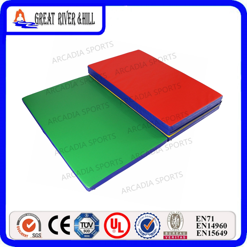 3cm thickness Folding Panel Gymnastics Mat Gym Exercise Mat 2.4mx1.2m gymnastics mat thick four folding panel fitness exercise 2 4mx1 2mx3cm