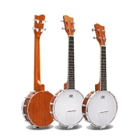 Folk Country Bluegress Music play style 4 strings Banjo 24inch hillbilly 26inch banjo strumming musical instrument professional