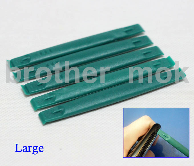 Green Double Headed Pry Tool Crowbar Spudger Good Quality Strong Plastic Opening Tools for iPhone iPad Repair 2000pcs/lot