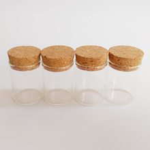25pcs/lot 15ml glass test tube 30*40mm clear cork stopper jar Storage bottle empty Drift wishing