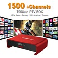 Octa Core Android Arab IPTV BOX T95Upro Free 1500 Europe Arabic IPTV Channels S912 2GB/16GB TV Box KODI WIFI H265 Media Player