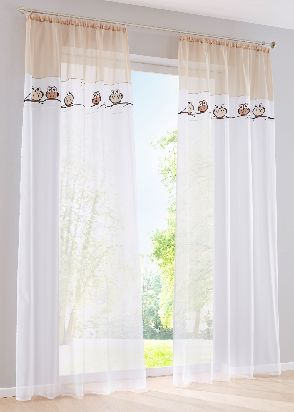 Peach curtains - 2017 Beautiful Red Peach Sand Color Voile Night Owl Curtains 100 Polyester Window