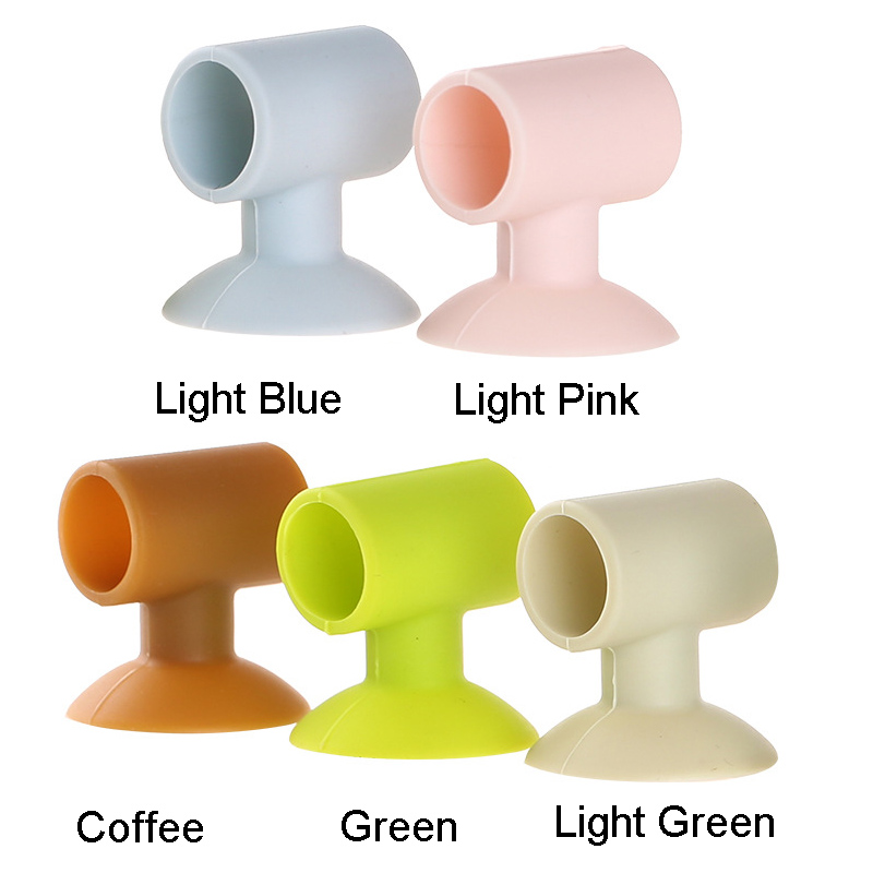 Silicone Door Handle Knob Crash Pad Wall Bumper Guard Stopper Anti Collision Suction Pads @LS
