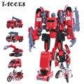 5 em 1 Combinar Liga Deformação Robô de Brinquedo Tamanho Grande Engenharia Toy Figuras de Ação Heróis Resgate Caminhão Crianças Brinquedos Voltron