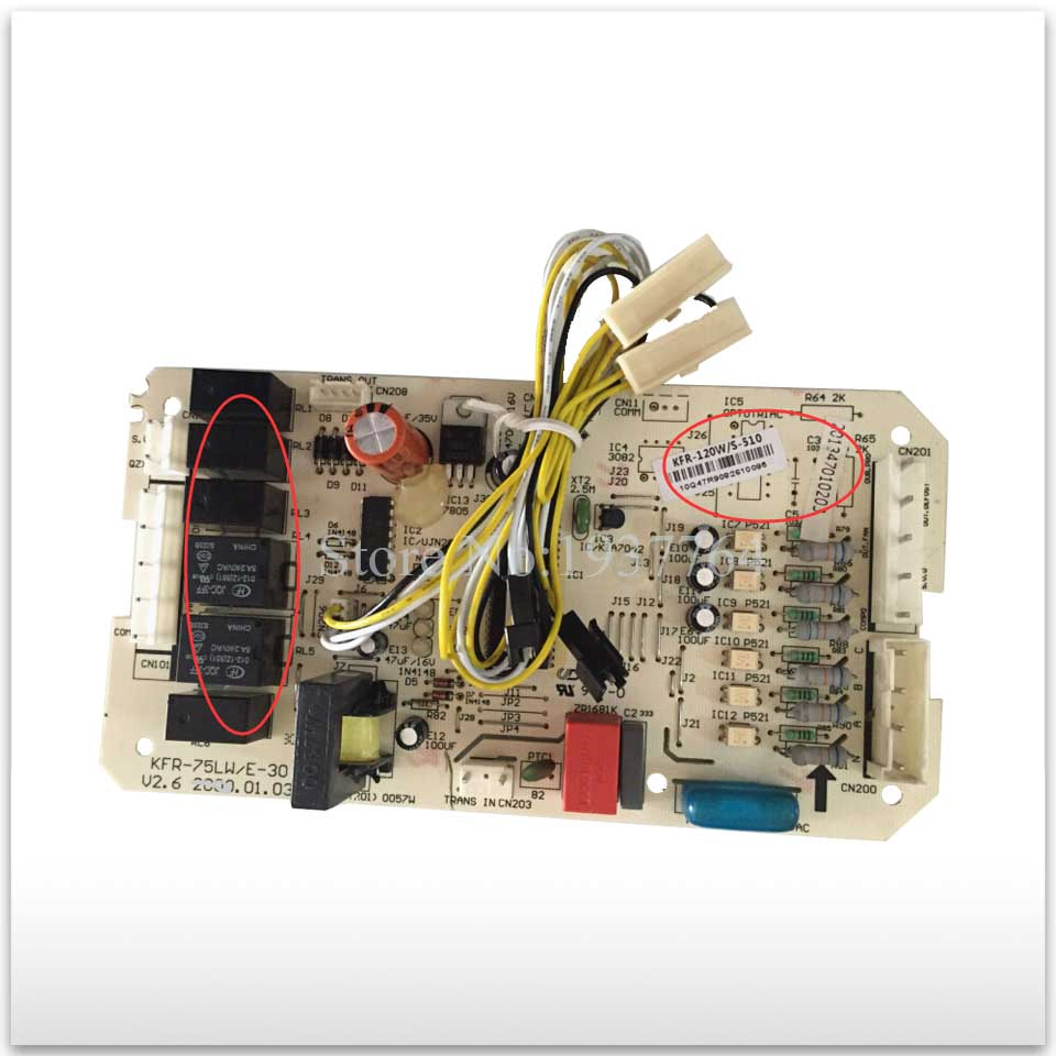 95% new for Air conditioning computer board circuit board KFR-120W/S-510 KFR-75LW/E-30 PC board good working 95% new for haier refrigerator computer board circuit board bcd 198k 0064000619 driver board good working