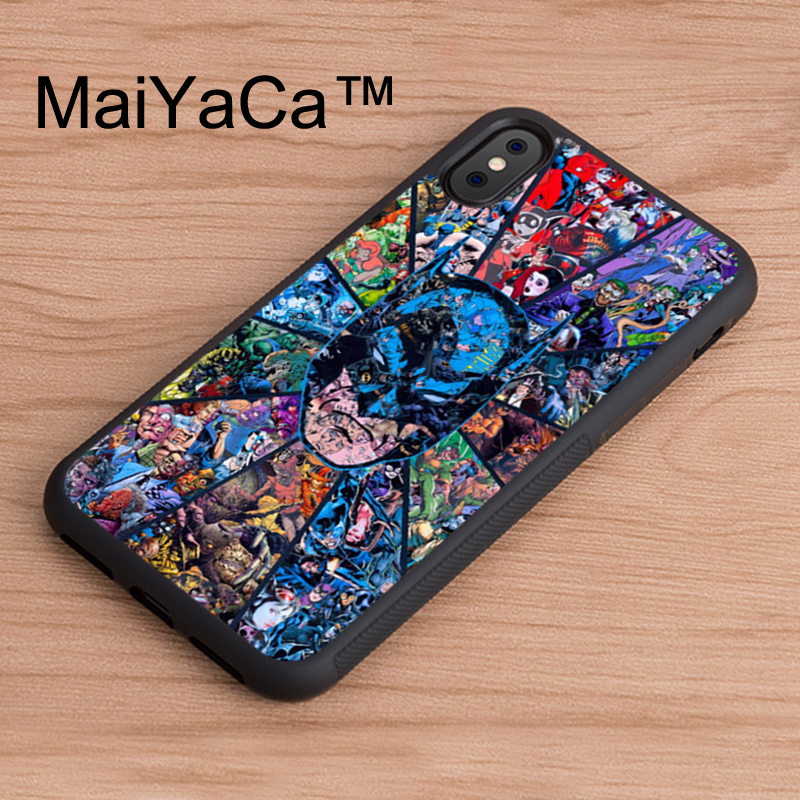 MaiYaCa Batman Superman DC comics Collage Original phone Case for iPhone X Mobile Phone Back Shell for iPhone X TPU Soft Case