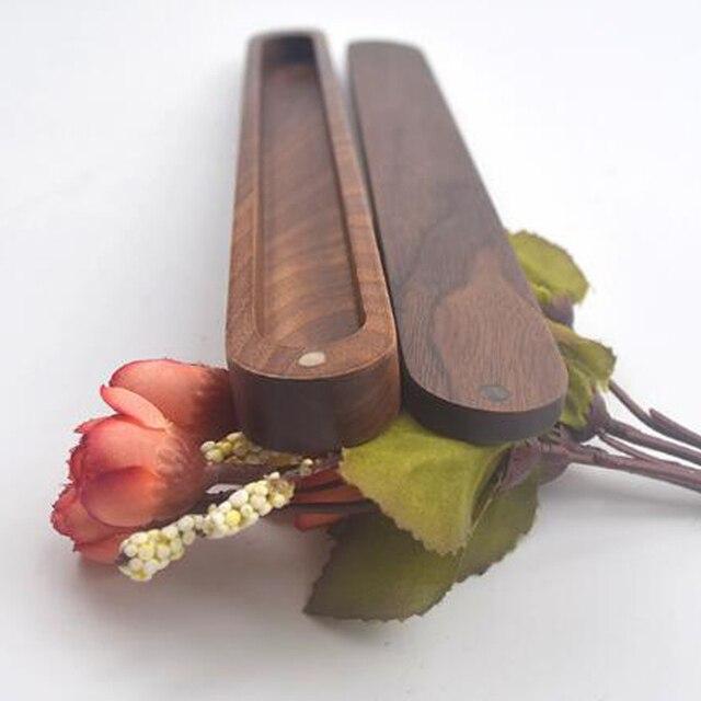 Portable Wooden Chopstick Box Reusable Chopsticks Natural Wood Sushi Travel Chopsticks with Storage Case Box