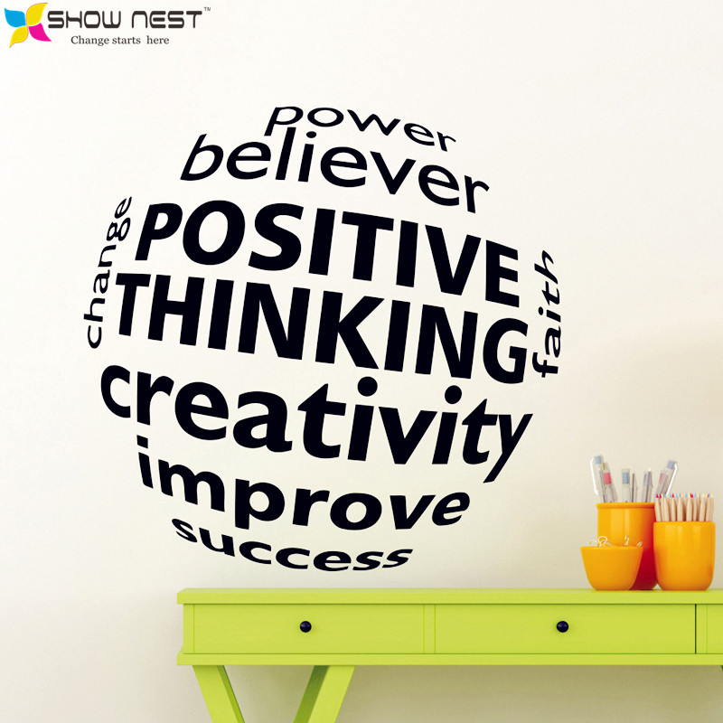 Business Motivation Quotes 3D Visual effect Wall Decal Mural - <font><b>Office</b></font> <font><b>Sticker</b></font> Wall Decor - <font><b>Office</b></font> Scene Wallpaper Design