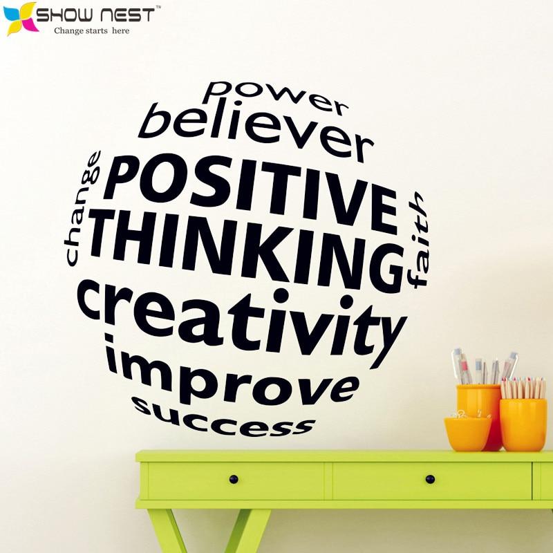 Foto Sticker Muur.Zakelijke Motivatie Quotes 3d Visuele Effect Muurtattoo Mural Office