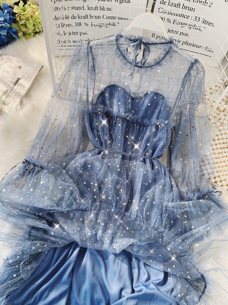 Gauze Two Piece Midi Dress 18