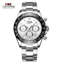 TEVISE Business Mechanical Watches Mens Automatic Watch Men Calendar Luminous Stainless Steel Waterproof Male WristWatch t822a
