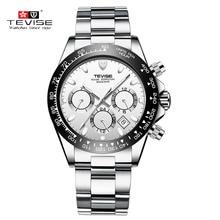 TEVISE Zakelijke Mechanische Horloges Heren Automatische Horloge Mannen Kalender Lichtgevende Rvs Waterdichte Mannelijke Horloge t822a
