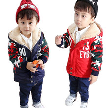 2018 Winter Boys Warm Camouflage Jackets For Baby boys Clothes Children Fashion Zipper Hooded Outerwear Kids Coats Thick Jacket недорого