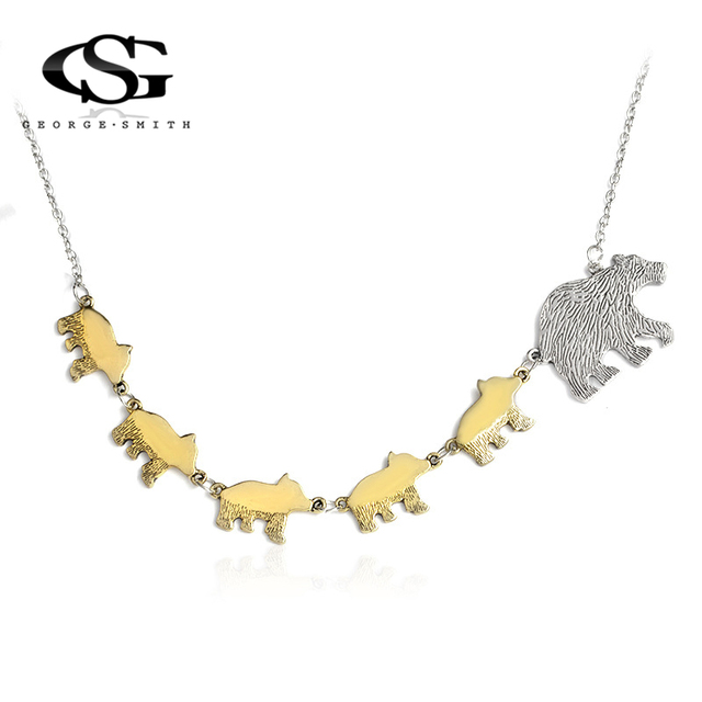 Gs 2018 hot animal pendant necklace women gold silver polar bear mom gs 2018 hot animal pendant necklace women gold silver polar bear mom and children jewelry mother aloadofball Image collections