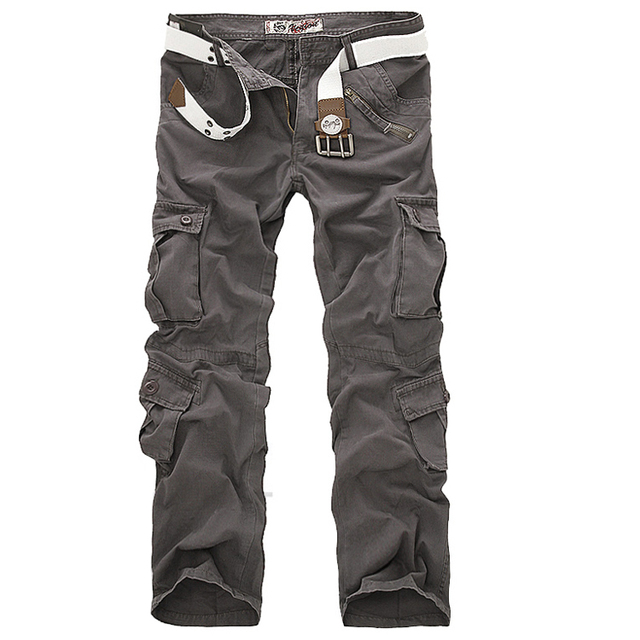 Hot sale free shipping men cargo pants camouflage  trousers military pants for man 7 colors 2
