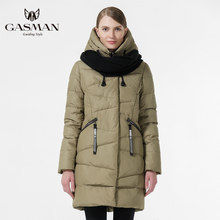 GASMAN 2019 Fashion Women 'S Winter Warm Coat Hooded Jacket Winter Women Thick Parka Coat Down Female fashion(China)
