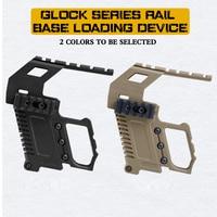 Airsoft Military Pistol Scope Rail Mount 20mm Picatinny Rail Tactical Pistol Glock Rail Base Loading Device for Glock 17 18 19