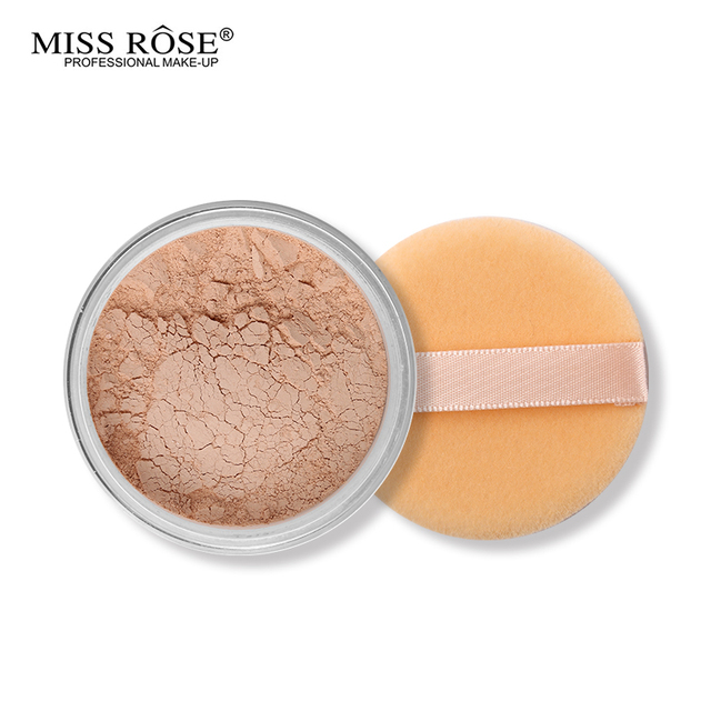 Miss Rose 12 Colors Face Foundation Makeup Transparent Loose Powder Oil-control Silky Setting Powder Mineral Matte Finish Tools 4