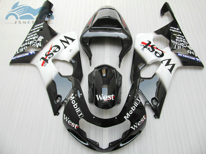 Custom Fairing set for <font><b>Suzuki</b></font> 2000 2001 <font><b>2002</b></font> GSXR1000 K1 K2 motorcycle fairings kit 00 01 02 <font><b>GSXR</b></font> <font><b>1000</b></font> black west RP15 image