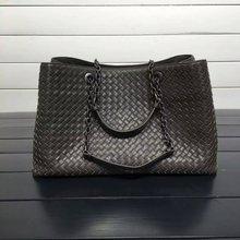 ISHARES Genuine Leather Sheepskin Handbags lambskin high quality Women weave Shoulder Bags Chain Totes Large Capacity IS168041 цены онлайн
