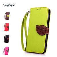 Cover For Wiko Lenny 1 Flip PU Leather Case B152 A Leaf Style Wallet Case For