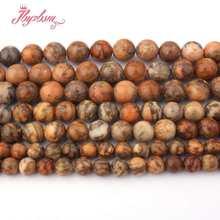 6,8, 10mm Contas Redondas Suave Bola Marrom Mutil Cor-Jaspers Ágatas Pedra Beads 15