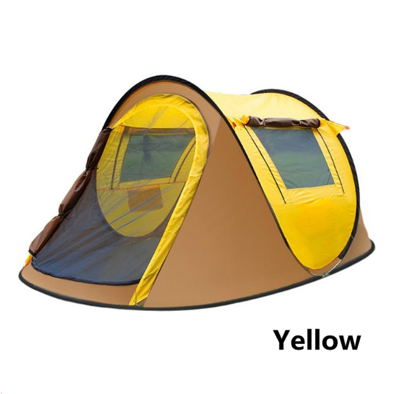 Camping Tent 3-4 person Tents automatic Waterproof Double Layer Tent Ultralight Outdoor Hiking Picnic tents naturehike outdoor camping 2 person tent 20d silicone ultralight 3 season tent double layer 2 people hiking fishing picnic tents