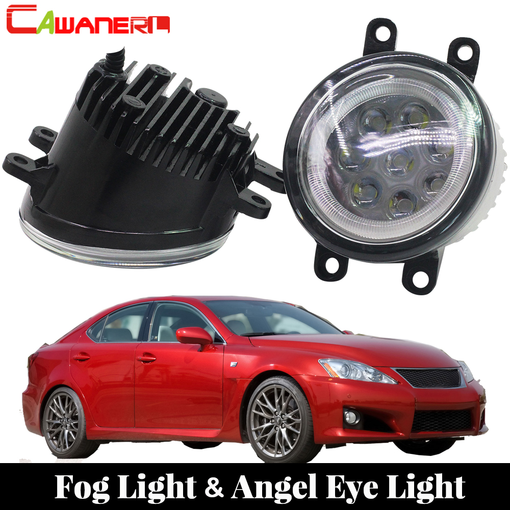 Cawanerl 2 X Car Styling LED Fog Light Angel Eye Daytime Running Light DRL 12V For Lexus IS-F IS F 2008 2009 2010 2011 2012 2013 car led light for audi a4 b8 s4 a4 allroad 2008 2009 2010 2011 2012 2013 2014 2015 car styling led fog light fog lamp