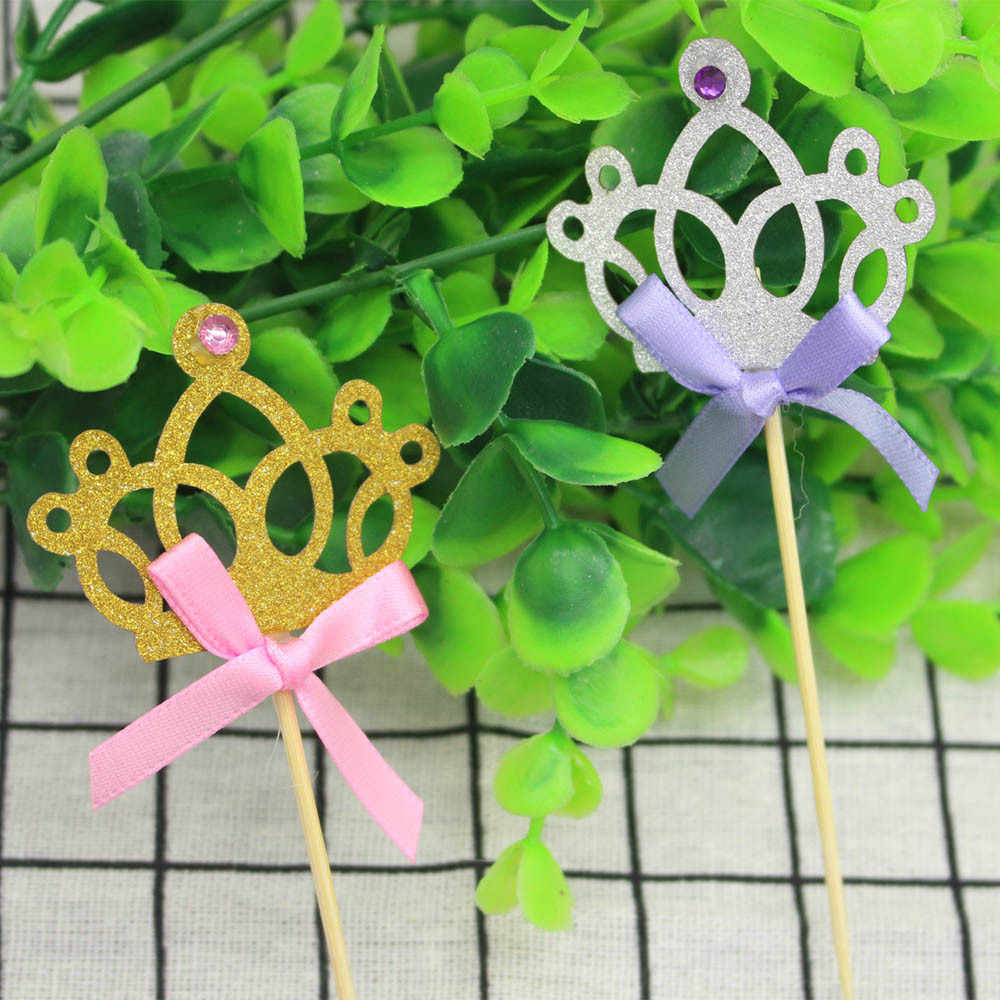 Кухня поставки Инструменты для тортов 10 шт. блестящая диадема принцессы Baby Shower кекс ручка для декорирования ногтей # P9