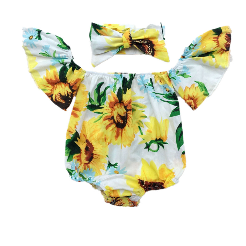 New Summer Casual Newborn Infant Toddler Kids Baby Girl Romper Off One Shoulder Baby Romper Jumpsuit Floral Girl Clothes Outfits emmababy summer newborn infant baby girl ruffles sleeveless romper flamingo jumpsuit sunsuit clothes outfits baby clothing