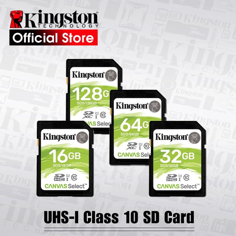 Kingston tarjeta SD de 128 GB 32 GB 64 GB tarjeta de memoria de 16 GB Class10 cartao SDXC de memoria SDHC uhs -vídeo HD sd para la cámara