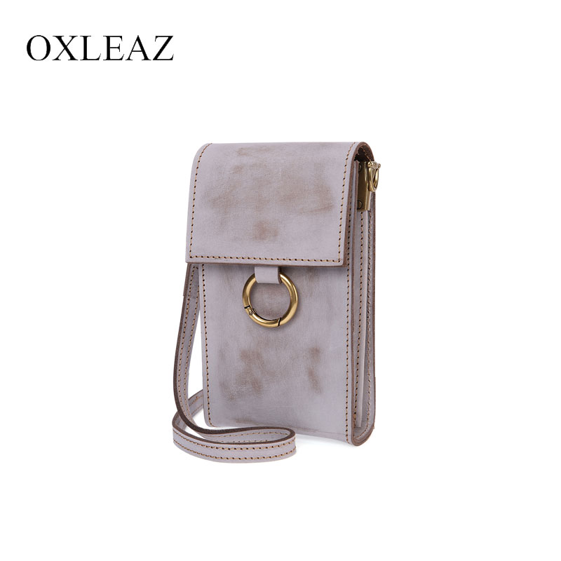 OXLEAZ Women Genuine Leather Bags Phone Shoulder Bags Vintage Messenger Bag Mini Clutch Crossbody Side Bags Small for Ladies недорго, оригинальная цена