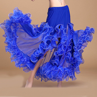 Good Quality Women Belly Dance Skirt Long Gypsy Skirt Fitness Feminine Professional Stage Sexy Ladies Flamenco Clothes Q3004
