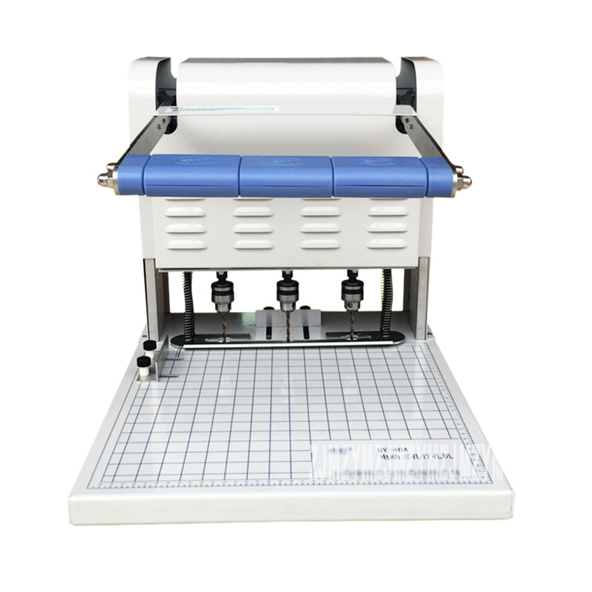 1pc Three hole electric binding machine Paper Puncher QY 40A Wire Binding Machine Paper Cutter Decorative