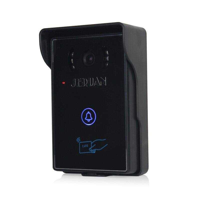 Купить с кэшбэком JERUAN 7 inch video doorbell intercom system door phone speaker intercom outdoor inductive card & touch panel
