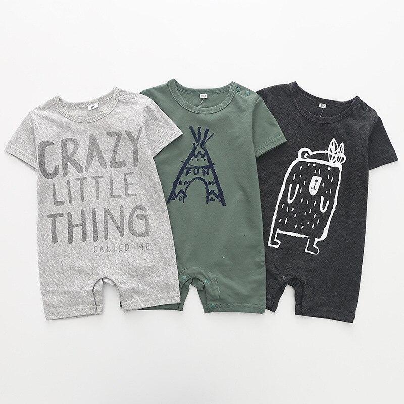 Baby Boy Romper Bodie Summer Short Sleeves Overalls Cotton Newborn Clothes