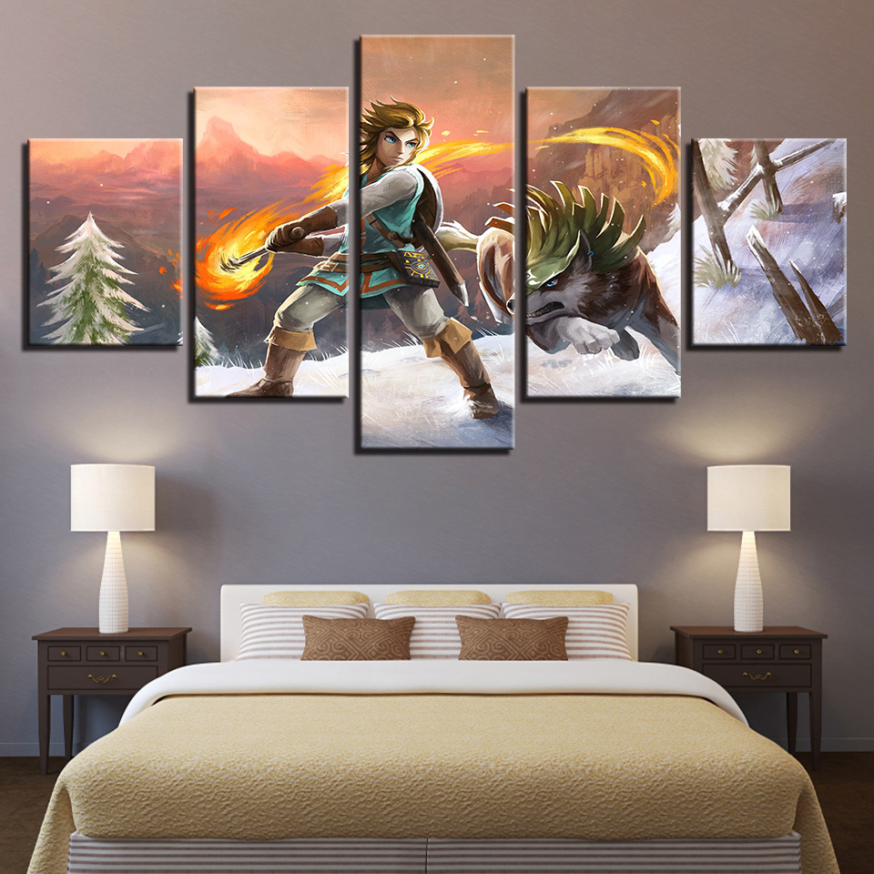 Canvas Wall Art Picture Home Decor For Living Room 5