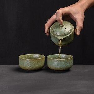 Image 4 - TANGPIN japanese ceramic teapot gaiwan teacups handmade portable travel office tea set