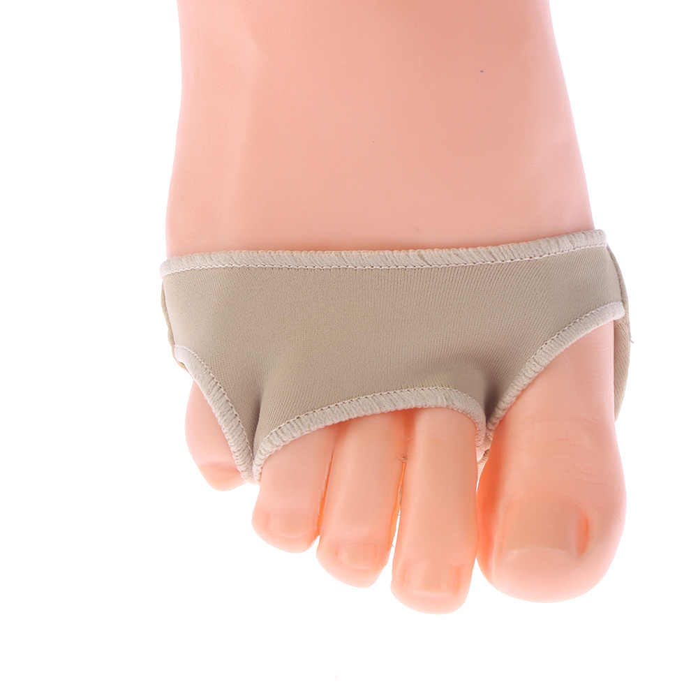 1 Pair Fabric Gel Metatarsal Ball Of Foot Cushions Forefoot Pain Support Sleeve Front Foot Pad Feet Care Nude 3 Sizes
