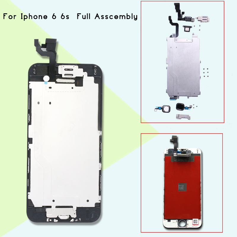 1pcs  LCD Screen For IPhone 6 6s Display Assembly Replacement With Original Digitizer With Home Button+front Camera