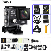 Action Camera Pro4 Real 4K 30FPS 16MP gopro her Built in WIFI 170 Wideangle Diving 45M Waterproof Sport camera