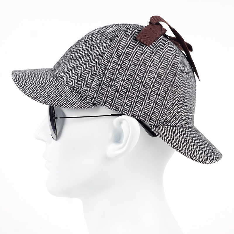862401be TUNICA 2017 new cotton High Quality Cosplay Cap Detective Sherlock Holmes  Deerstalker Hat Gray Cups New men women Berets Cap-in Baseball Caps from  Apparel ...