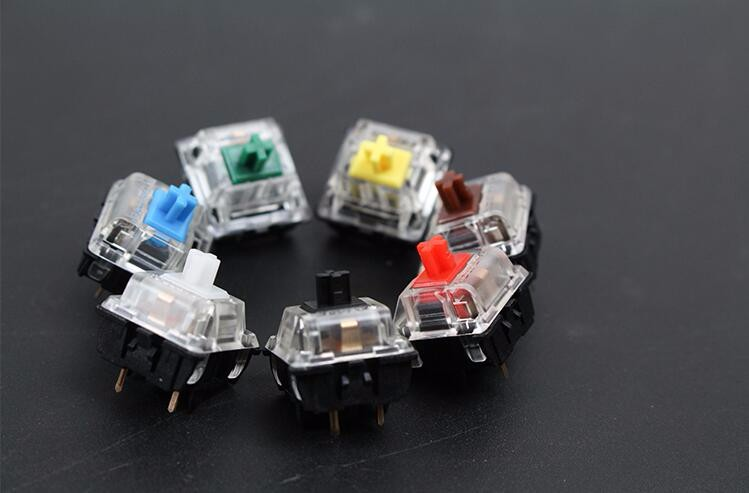 Gateron mx switch 3 pin adn 5 pin transparent case mx green brown blue switches for mechanical keyboard cherry mx compatible