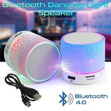 Wireless bluetooth Speaker Portatil LED Light Bluetooth Mini Speaker Music center HandsFree TF/USB/AUX