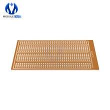 10 шт. 5X10 см 5x10 см Универсальный без пайки PCB тестовый макет Медь прототип бумага Луженая пластина шарнирные отверстия DIY