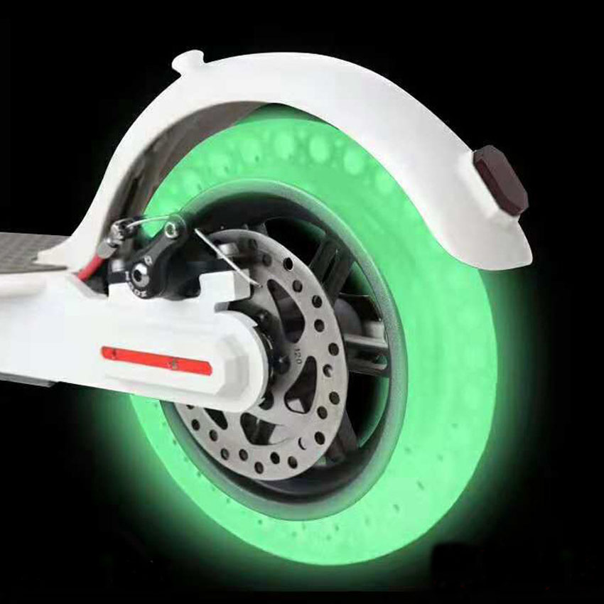 2019 Luminous Shock Absorber Xiaomi Mijia M365 Scooter Skateboard Damping Rubber Tires Wheels Tyre Fluorescent Solid Hole Tires