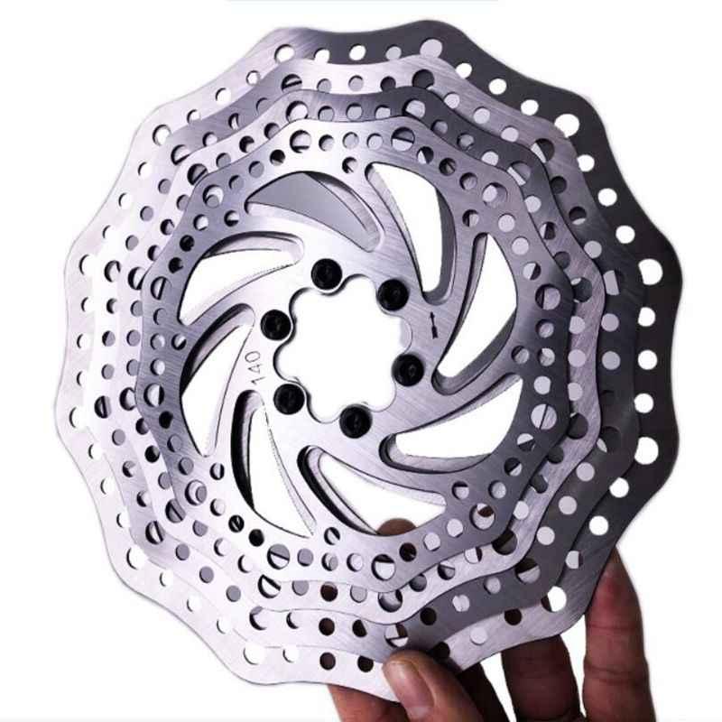 Disco de freno de bicicleta MTB ciclocross 44mm 6 tornillos, línea central 140mm 160mm 180mm 203mm rotor de freno de bicicleta, con tornillos