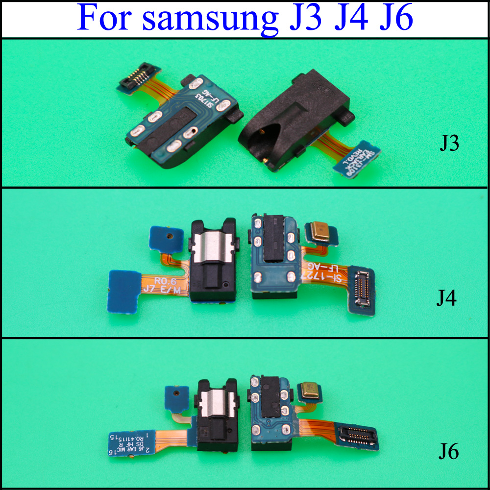 For Samsung Galaxy J3 J4 J5 J6 J7 2017 J330 J530 J730 Earphone Jack Headphone Audio Microphone Flex Cable Audio Jack Flex