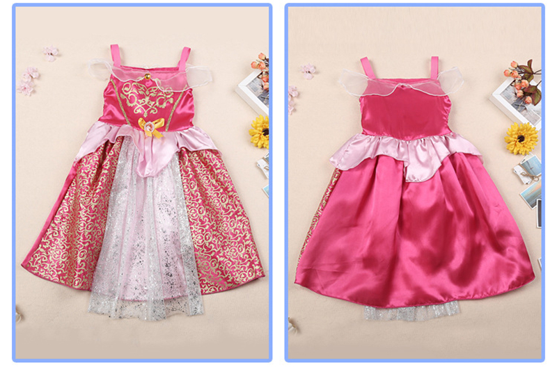 Image 3 - Girls Party Dress Kids Cinderella Snow White Halloween Costume Baby Girl Princess Dress Christmas Rapunzel Aurora Belle Dress-in Dresses from Mother & Kids